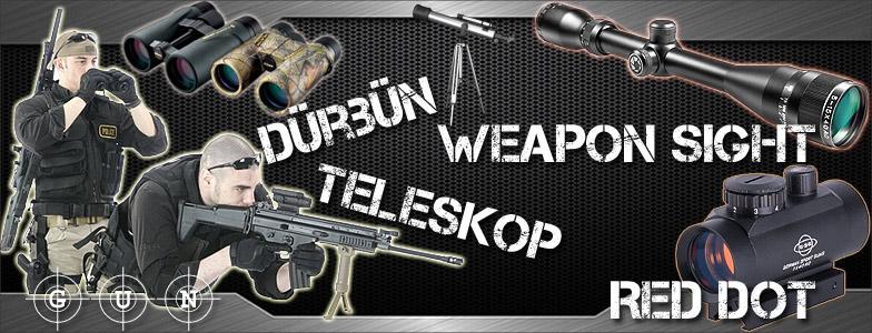askeri dürbün, taktik dürbün, silah dürbünü, tüfek dürbünü, reddot