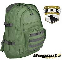 Bugout Gear S.O.C. Three Day Elite Backpack Olive Drap