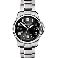 VICTORINOX Swiss Army Officer's Gent Black  Analog Quartz 40mm