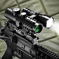 Tactical SIGHT 4x30 IR,MIL DOT,DUAL COLOR