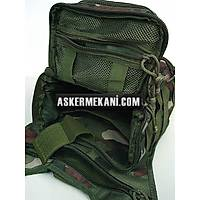 Multi Purpose Molle Gear Shoulder Bag Woodland Camo