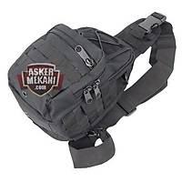 Tactical Molle Utility Gear Shoulder Sling Bag Black