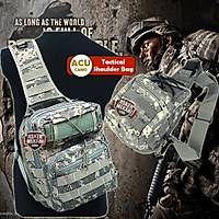 Tactical Molle Utility Gear Shoulder Sling Bag Acu Camo