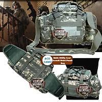 Molle Utility Gear Assault Waist Pouch Bag Digital ACU Camo