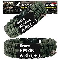 Outdoor Paracord Bracelet Green Name Tag