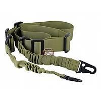 Tactical 2-Point Bungee Sling Green Askı Kayışı