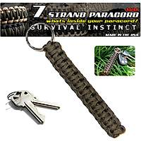 Outdoor ParaCord Keychain Green