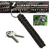 Outdoor ParaCord Keychain Black
