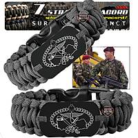 Outdoor Paracord Bracelet Black Özel Kuvvetler