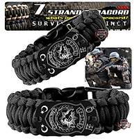 Outdoor Paracord Bracelet Black Özel Harekat