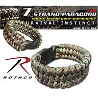 Rothco Tri Weave Paracord Bracelet Camo