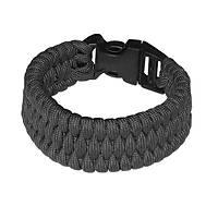 Rothco Tri Weave Cobra Paracord Bracelet Black