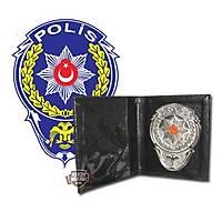 Rozetli Deri Polis Cüzdanı