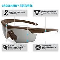 ESS Crosshair 2LS Coyote brown Ballistic Eyeshields