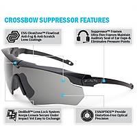 ESS Crossbow Suppressor 2X Kit - Clear & Smoke Gray