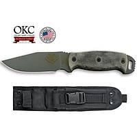 Ontario Ranger Knives RBS4 Black Micarta 9443BM