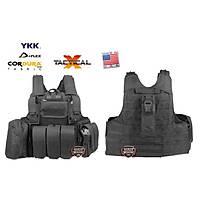 Us Combat Strike Plate Carrier Vest Black