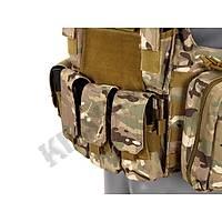 Us Combat Strike Plate Carrier Vest Multi Camo