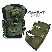 Tactical Combat Vest Woodland Camo