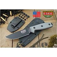 ESEE 4 Knife Black Plain Edge Grey Micarta