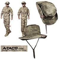 Us Combat Bonie Hat  A-TACS Camo