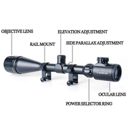 Tactical Sniper Scope 6-24X50