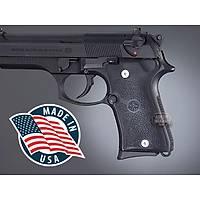 Us Beretta 92 Compact Auto Rubber grip Panels Black