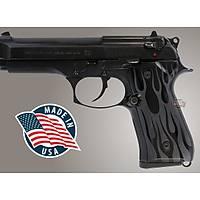 Us Beretta 92 Flames Aluminum - Black Anodized