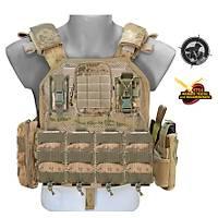 Black Storm Tactical Vest Fileli Gövde Kamuflaj