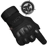 Combat Gear Full Finger Gloves Black