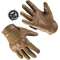 US TACTICAL GLOVES LEATHER / KEVLAR DARK COYOTE