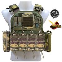 Black Storm Tactical Vest Fileli Gövde Kamuflaj