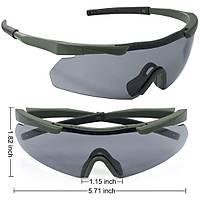 Tactical Eyewear 3 Balistik Atýþ Gözlüðü Green Çerçeve