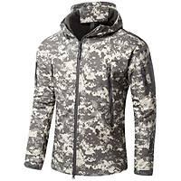 Us SoftShell Tactical Acu Camo Ceket