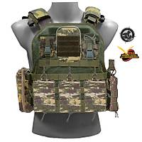 Black Storm MPT-76 Tactical Vest Fileli Gövde Kamuflaj