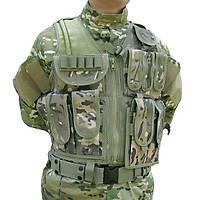 Tactical Combat Vest Multi Camo