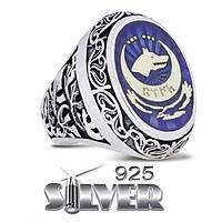 Göktürk Kurt Mavi Silver 925