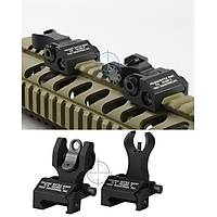 Tactic Front And Rear Sight Set Metal
