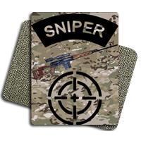 Sniper Multicamo Tactic Metal Patch