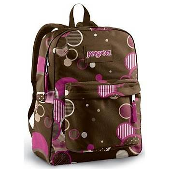 JANSPORT chocolate chýp pat SPOR ÇANTA