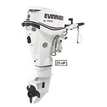 EVINRUDE E-TEC 25 HP UZUN ÞAFT MANUEL MOTOR