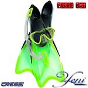 CRESSI PALAU CLASSIC SET LIME 38/39 (5/5.5)