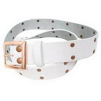 RIDE STUDDED CRACKED LEATHER BELT KEMER UNÝSEX