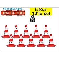 Trafik Konisi 12301 6 Kenar 50 cm 10 ad.