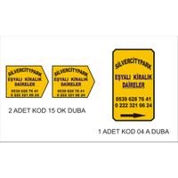 2 adet Kod 15 ok Duba / 1 adet kod 04 A Duba