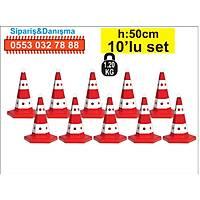 Trafik Konisi 12300 6 Kenar 50 cm 10 ad.