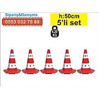 Trafik Konisi 12301 6 Kenar 50 cm 5 ad.