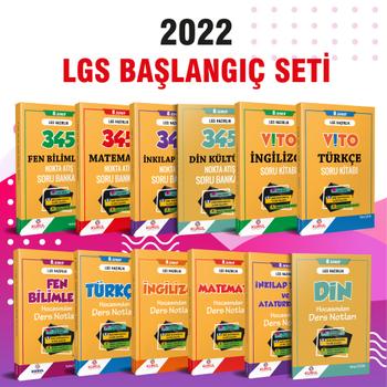 2022 LGS  Baþlangýç Seti Konu ve Soru Kitaplarý Bir Arada - 12 Kitap