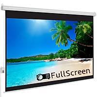 FullScreen 180x180 Motorlu Projeksiyon Perdesi