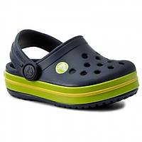 CROCS CROCBAND CLOG K NAVY VOLT GREEN LEMON